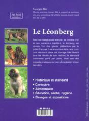 Le léonberg - 4ème de couverture - Format classique
