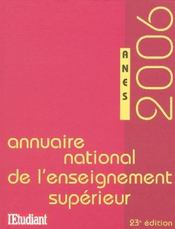 Annuaire National De L'Enseignement Superieur (edition 2006) - Intérieur - Format classique