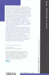Anthropologie Du Carnaval - 4ème de couverture - Format classique