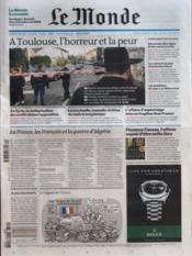 Monde (Le) N°20890 du 20/03/2012 - Couverture - Format classique
