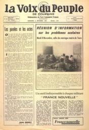 Voix Du Peuple De Touraine (La) N°1319 du 06/11/1966 - Couverture - Format classique