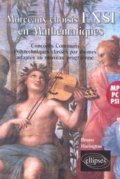 Morceaux Choisis Ensi En Mathematiques Concours Communs Classes Par Themes Mp Pc Psi - Intérieur - Format classique