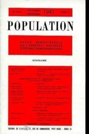 Population 1997 N.6 Nov-Decembre - Couverture - Format classique