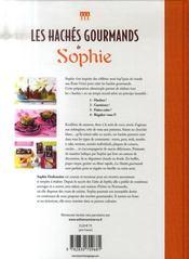 Les hachés gourmands de Sophie - 4ème de couverture - Format classique