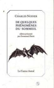 De Quelques Phenomenes Du Sommeil - Couverture - Format classique