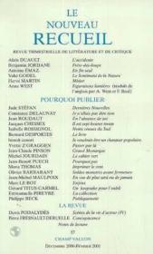 Le Nouveau Recueil ; La Demeure - Couverture - Format classique