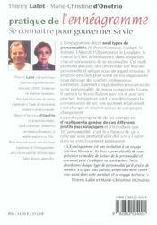 Pratique De L'Enneagramme N.195 - 4ème de couverture - Format classique