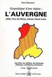 Géopolitique d'une région : l'Auvergne - Couverture - Format classique