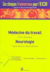 Medecine Du Travail Neurologie - Intérieur - Format classique