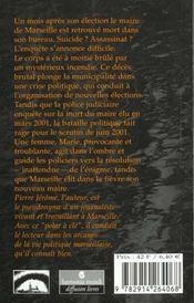Marie de marseille - 4ème de couverture - Format classique
