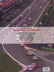 2001 Fifa Gt Endurance Championship - 4ème de couverture - Format classique