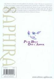 Plus Beau Que L'Amour T.1 - 4ème de couverture - Format classique