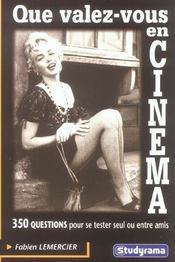 Que valez-vous en cinema ? - Intérieur - Format classique