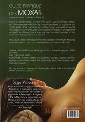 Guide Pratique Des Moxas ; Traitement Des Maladies T.2 - 4ème de couverture - Format classique