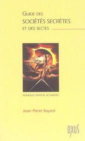 Guide Societes Secretes Et Sectes - Intérieur - Format classique