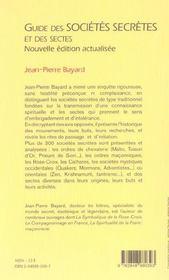 Guide Societes Secretes Et Sectes - 4ème de couverture - Format classique