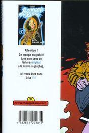 Shaman King T5 - 4ème de couverture - Format classique