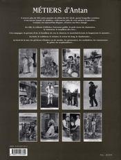 Métiers d'antan - 4ème de couverture - Format classique