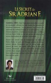 Le secret de sir adrian f. - 4ème de couverture - Format classique