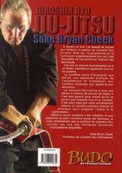 Jukoshin ryu jiu-jitsu - 4ème de couverture - Format classique