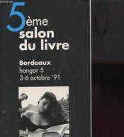 5e Salon Du Livre - Bordeaux - Couverture - Format classique