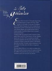 La bête du Gévaudan - 4ème de couverture - Format classique