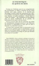 Le Psychotique : Sa Quete De Sens - 4ème de couverture - Format classique