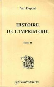 Histoire de l'imprimerie - Couverture - Format classique