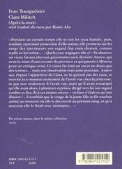 Clara Militch - 4ème de couverture - Format classique