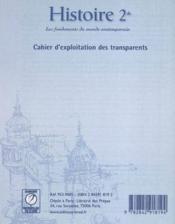 Histoire ; seconde ; transparents - Couverture - Format classique