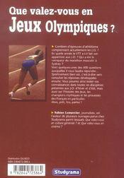Jeux Olympiques - 4ème de couverture - Format classique