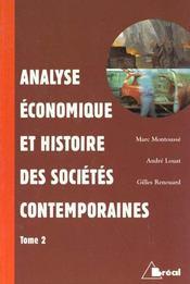 Analyse economique et histoire des societes contemporaines t.2 - Intérieur - Format classique