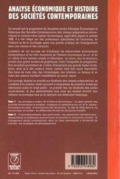 Analyse economique et histoire des societes contemporaines t.2 - 4ème de couverture - Format classique