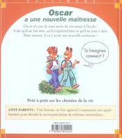 Oscar A Une Nouvelle Maitresse - 4ème de couverture - Format classique
