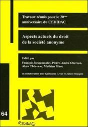 Aspects actuels du droit de la société anonyme t.64 - Couverture - Format classique