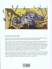 Zachary Holmes T.1 ; L'Affaire Du Monstre - 4ème de couverture - Format classique
