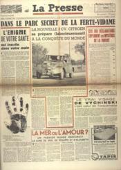 Presse (La) N°151 du 05/10/1948 - Couverture - Format classique