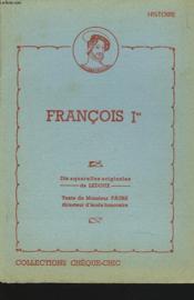 Francois Premier - Couverture - Format classique