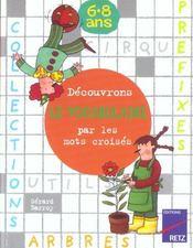 Découvrons le vocabulaire par les mots croisés - Intérieur - Format classique