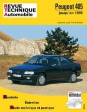 Rta 726.2 Peugeot 405 E&D (87/97) Td Fin Fabrication - Couverture - Format classique