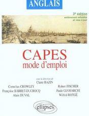 Capes ; anglais ; mode d'emploi (3e édition entièrement refondue et mise à jour) - Intérieur - Format classique