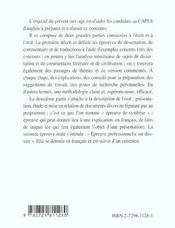 Capes ; anglais ; mode d'emploi (3e édition entièrement refondue et mise à jour) - 4ème de couverture - Format classique
