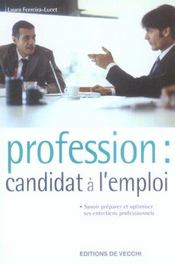 Profession Candidat A L'Emploi - Intérieur - Format classique