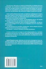 Profession Candidat A L'Emploi - 4ème de couverture - Format classique