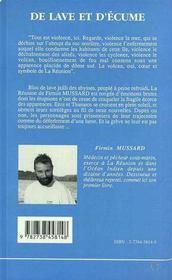De Lave Et D'Ecume - 4ème de couverture - Format classique