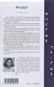 Modukpe ; Le Reve Brise - 4ème de couverture - Format classique