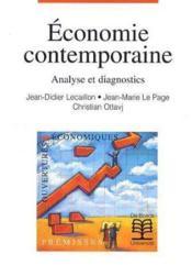 Economie Contemporaine Analyse Et Diagnostics - Couverture - Format classique