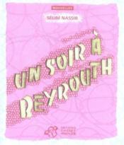 Un Soir A Beyrouth - Couverture - Format classique