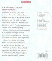 Un soir à Beyrouth - 4ème de couverture - Format classique