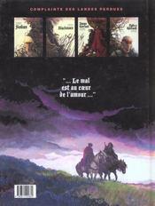 Complainte des landes perdues ; cycle Sioban t.1 ; Sioban - 4ème de couverture - Format classique